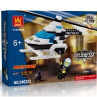 Mainan Lego Wange 40223 Police Series Helicopter