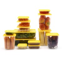 Jual Satu set isi 14 pcs tempat makan Calista Otaru kuning Murah