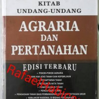 Kitab Undang-Undang Agraria dan Pertanahan