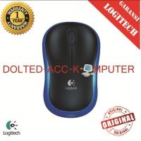Logitech M185 Blue Wireless Mouse.GARANSI LOGITECH
