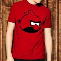 Angry Bird Birds 7 Deadpool Marvel Red Kaos T-Shirt T Shirt TShirt