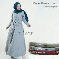 dena dress coat ori / gamis soft jeans HQ