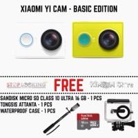 Xiaomi Yi + waterproof case + monopod/tongsis + mmc 16 gb +