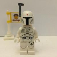Lego Original Minifigure Bobba Fett White 2015 Star Wars