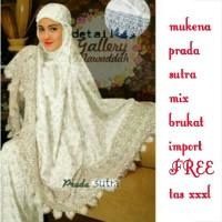 Mukena prada sutra mix brukat import free tas xxxl