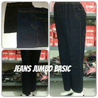 Jual celana panjang jeans hamil jumbo model basic Murah