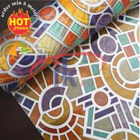 Stiker / Sticker Kaca Abstrak Colorfull ( Terbaru ) Lebar Bahan 120cm