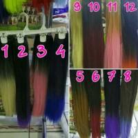 Jual hair clip ombre straight/hairclip/ponytail/wig Murah