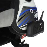 Motorcycle BT Interphone Bluetooth V6 Helmet 6 Rider waterproof