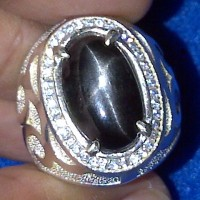 Cincin Batu Black Star Diopside - ZA 076