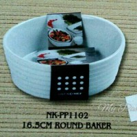 Baker bulat mangkuk keramik mangkok Makan porselen ceramic round baker