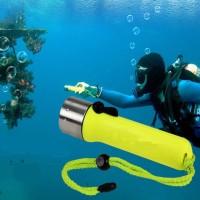 3W Waterproof LED Light Underwater Diving Torch-senter untuk menyelam