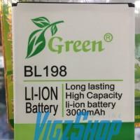 Baterai Battery Lenovo S880,S890,A830,A850,K860 BL198 3000mAh Green