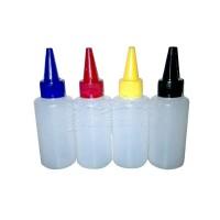 Botol Lancip/kerucut HDPE Tutup warna kemasan 100ML