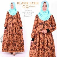 Dn Batik Klasik 2 Maxi(jilbab,mukena,gamis Wanita Muslim)
