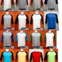 Size XL & XXL Baju Kaos Reglan 3/4 Polos