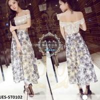 JES-ST0102 blouse sabrina skirt import korea-baju rok panjang wanita