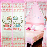 harga New Tirai Anti Nyamuk Hello Kitty Magnetic Magnet Curtain Magic Mesh Tokopedia.com