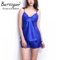Baju Tidur Satin Silk 2 Set Camisol + Hot Pants Sexy Summer