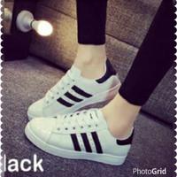 US Adiddas Putih-Hitam | Adidas Putih | Adidas Hitam | Sepatu Adidas