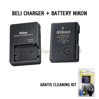 Charger + Battery Nikon D3100/D5100 FREE CLEANING KIT STOK TERBATAS