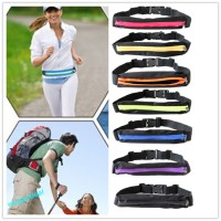 Pocket belt running sport elastic tas lari sepeda bag waterproof waist