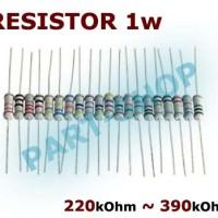 R resistor 1w 1Watt 220k 270k 300k 330k 390k 220 270 300 330 390 kOhm