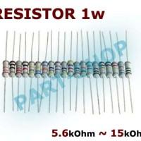 R resistor 1w 1Watt 5k6 6k8 8k2 10k 12k 15k 5.6 6.8 8.2 10 12 15 kOhm