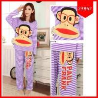 Setelan Sleepwear Paul Frank Stripe Purple