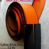 IKAT PINGGANG KULIT ASLI IMPORT CALVIN KLEIN CJ02,SABUK KULIT IMPORT