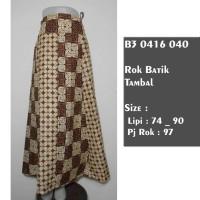 harga rok batik klok sogan klasik / bawahan batik muslim panjang terbaru Tokopedia.com