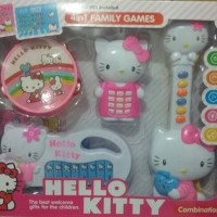 Harga mainan hello kitty set 4 in 1 family | WIKIPRICE INDONESIA