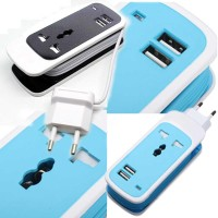 harga Travel Eu Power Plug Colokan Terminal Listrik Usb 2.1a Charger Adapter Tokopedia.com