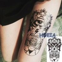 HC-2044 Temporary Tattoo - Tattoo Temporer - Tatoo Temporary Iluminati