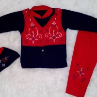 Koko anak / stelan anak/ baju muslim laki-laki rompi AL04