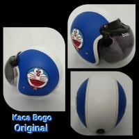 helm bogo ORIGINAL full kulit face doraemon timbul warna biru putih