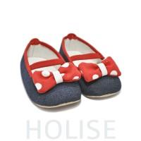 221903 Sepatu Baby Polkadot Merah Biru