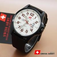 harga Jam Tangan Pria Tali kanvas Swiss Army DA954G White Dark Brown Ori Tokopedia.com