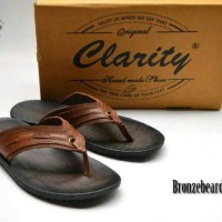 Sandal Pria Original Clarity Kulit Pull Up Coklat