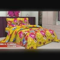BED COVER LALUNA MILA FLORIST YELLOW 180X200 (100% COTTON KOREA)
