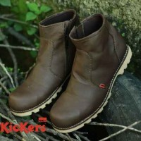 Sepatu Safety Termurah Kicker Leather Zipper Bs03