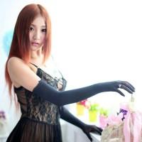 Sarung tangan panjang warna hitam