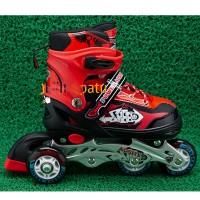 Sepatu Roda Ban Karet / Sepatu Roda Bajaj Merah