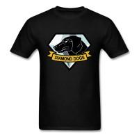 MGS Metal Gear Solid Diamond Dogs Logo Men's T-Shirt BLACK