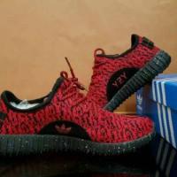 Sepatu Casual Pria Adidas Yeezy Boost Oreo Red Black Men
