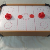 Top Air Hockey Kiddy Fun 2 Pucks & Paddles Mini Table Game