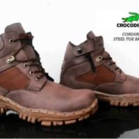 sepatu boot hiking proyek rider biker crocodile cordura grade ori