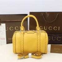 Tas Gucci Kulit Vintage Boston Small Kuning PS269876L