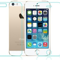 [PAKET HEMAT] iPhone 5 / 5s / SE Front and Back Tempered Glass