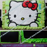 Cover TV,bando TV,Tutup TV LED/LCD motif Hello Kitty Hijau